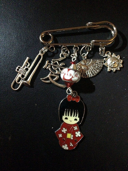 Mikado Brooch Pin