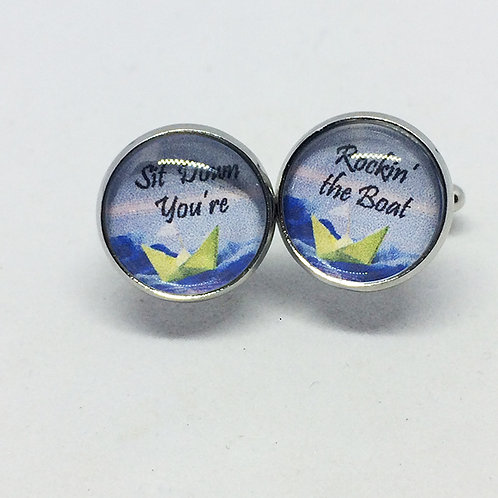 Guys & Dolls 'Sit Down you're Rocking the Boat' Cufflinks