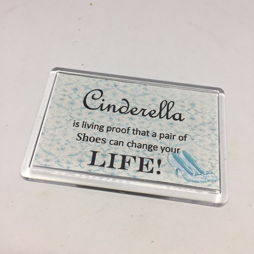 Cinderella Shoes are Proof Fridge Magnet