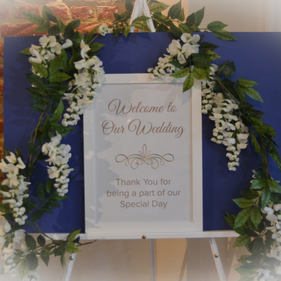 A3 Welcome to our wedding sign and Easel.