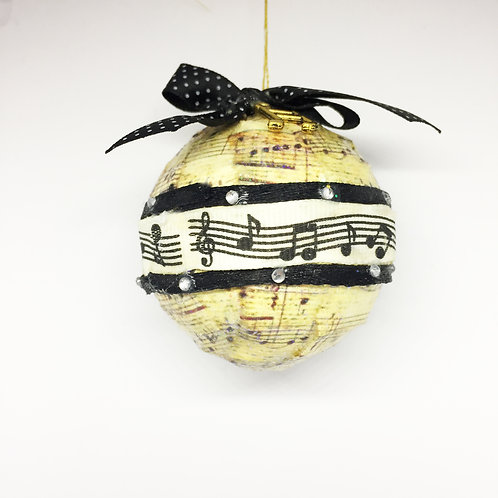 Christmas Handcrafted Music Ribbon Tree Decoration