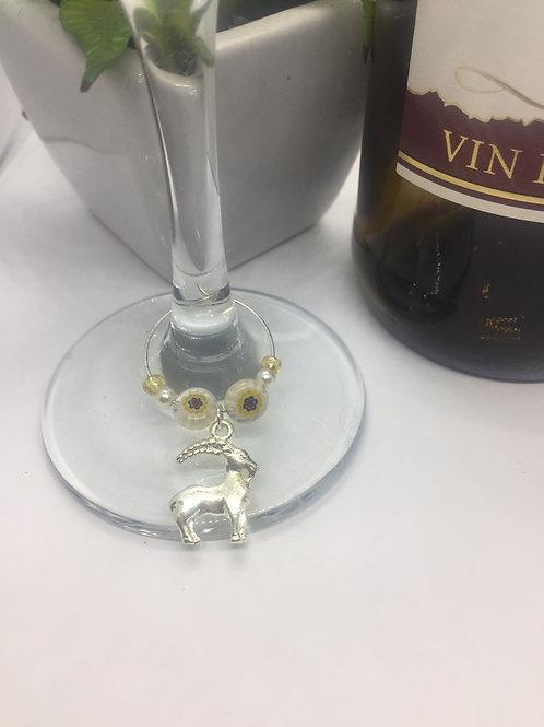 Zodiac Aries Wine Glass charm