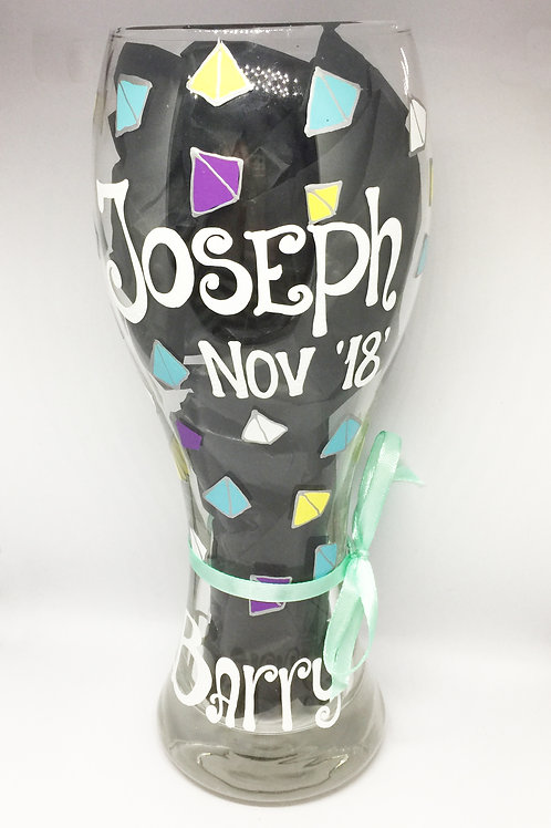 Joseph Hand Painted Beer Glass
