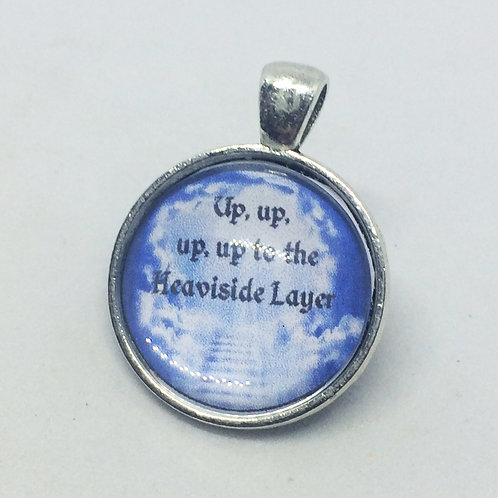 Cats 'Up to the Heaviside Layer' Round Pendant