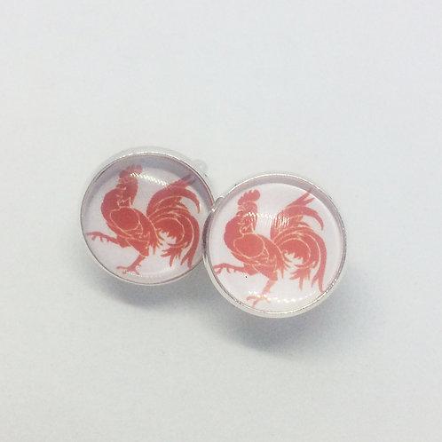 Annie red rooster Cufflinks