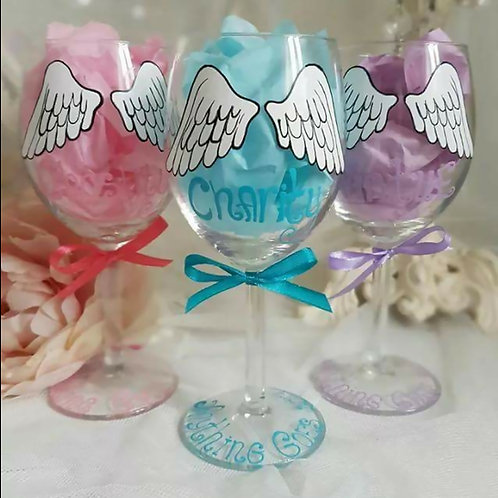 Anything Goes - Reno's Angels Painted Glasses