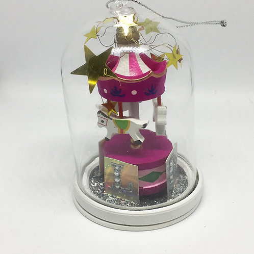 Christmas Carousel Hanging Bell Tree Decoration