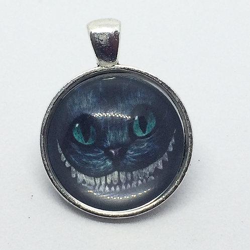 Alice in Wonderland Cheshire Cat Round Pendant