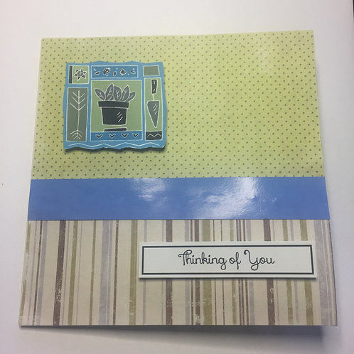 Green and Blue garden theme Thinking of You Square card