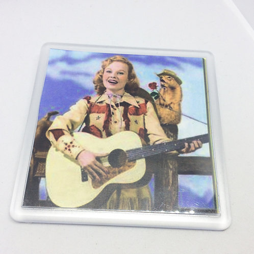 Singing Cowgirl with Guitar Coaster