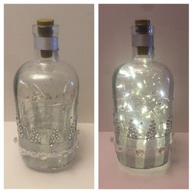Silver Crystals LED Gin bottle 05
