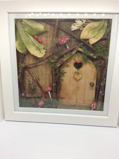 Woodland Fairy Door Shadow Box