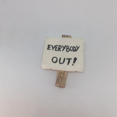 Made in Dagenham Everybody Out Brooch