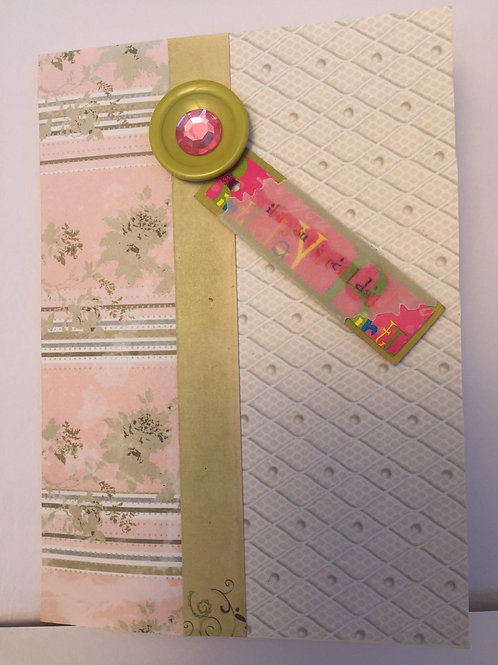 Pink and green 'It's your special day' card