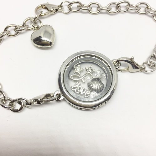 Carousel Memory Locket Bracelet