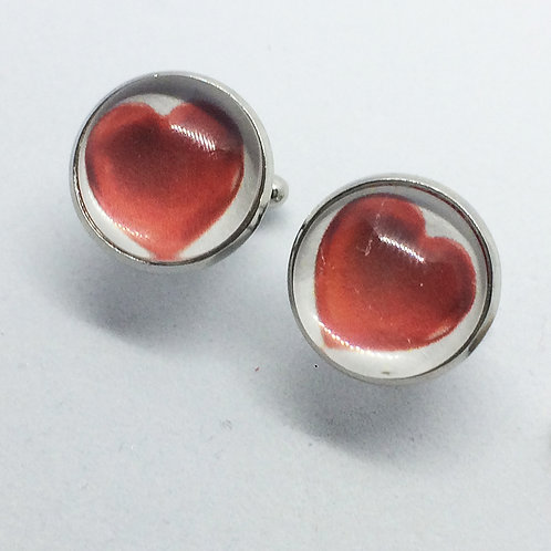 Wizard of Oz Tinman's Heart Cufflinks