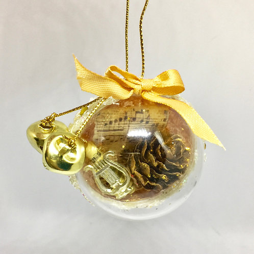 Christmas Handcrafted Bells and Fir Cones Tree Decoration