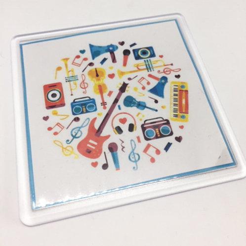 Colourful Music Coaster