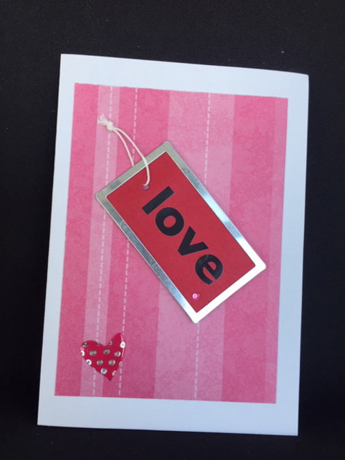 Red Love Tag Valentine Card