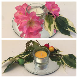 Mirror Plate and Tealight decor