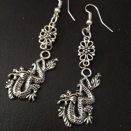 Chinese Dragon Drop earrings