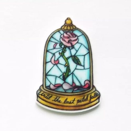 Beauty and the Beast Magic Rose Lapel Pin