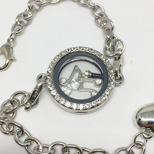 Singers memory locket bracelet