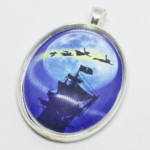 Peter Pan Flight to Neverland Oval Pendant