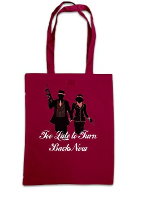 Bonnie & Clyde Too Late to Turn Back Now Tote Bag