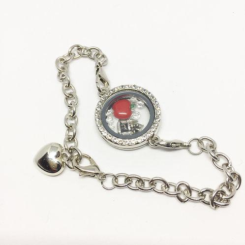 Snow White memory locket bracelet