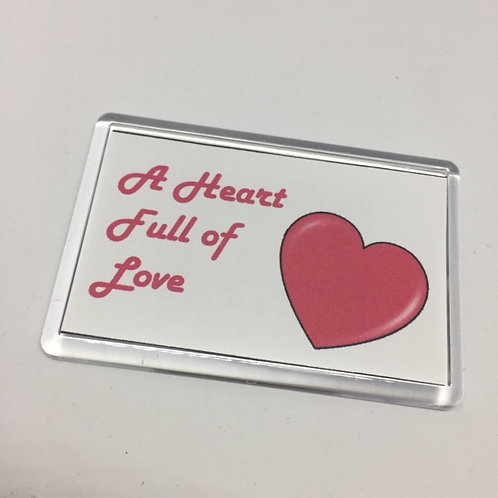 Les Miserables Heart full of Love Fridge Magnet