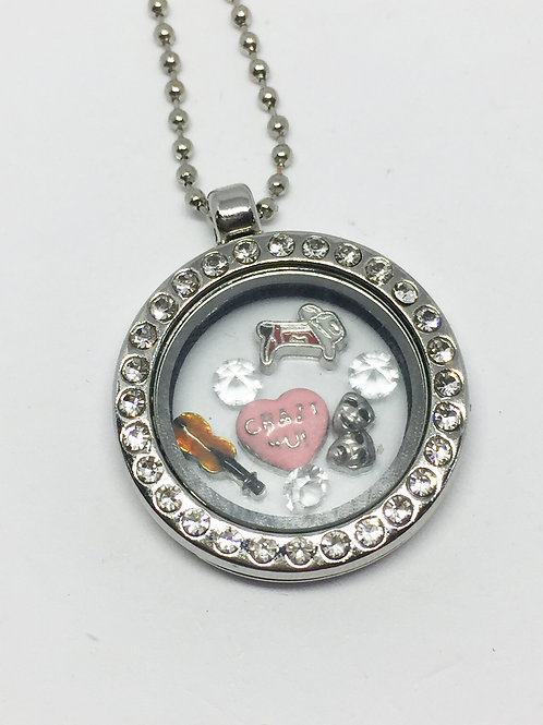 Crazy for You memory Locket necklace