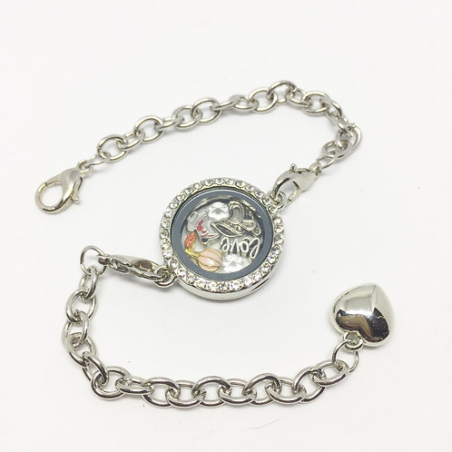 Oklahoma memory locket bracelet