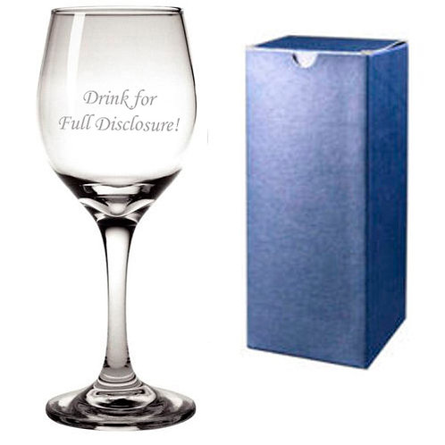 Addams Family Full Disclosure Engraved Wine Glass