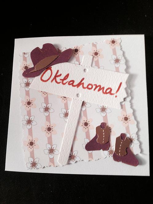 Oklahoma Cards - colours may vary