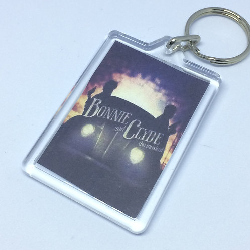 Bonnie & Clyde Double Sided Keyring