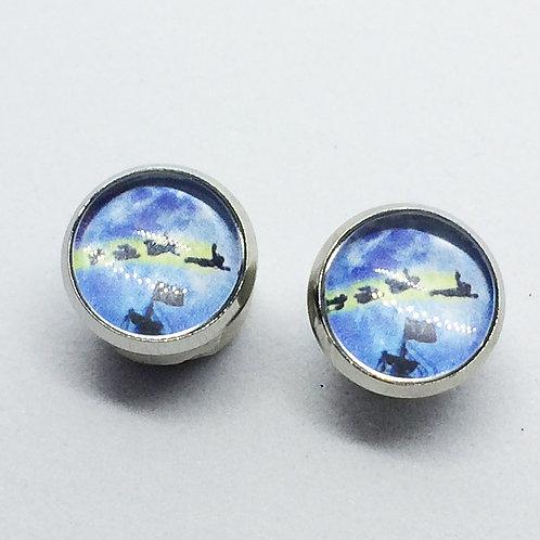 Peter Pan Stud Earrings