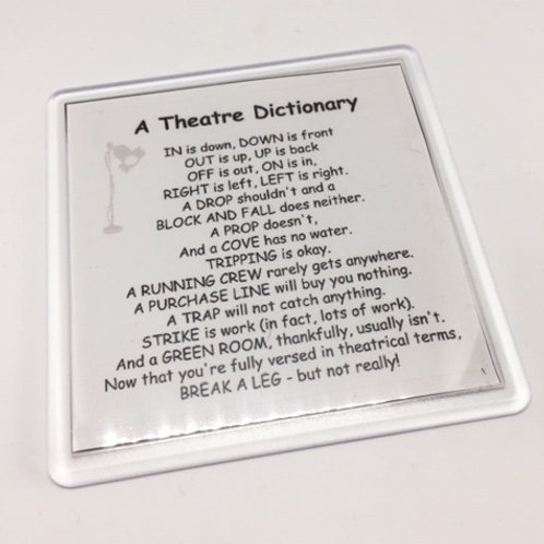 Theatre Dictionary Coaster