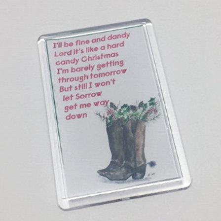 Best Little Whorehouse in Texas Hard Candy Christmas Fridge Magnet