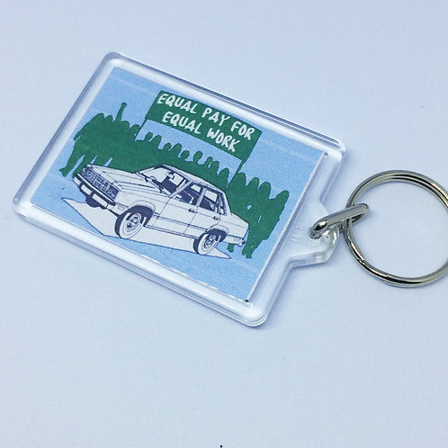 Made in Dagenham Equal Pay Double Sided Keyring