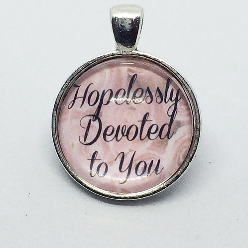 Grease 'Hopelessly Devoted to You' Round Pendant