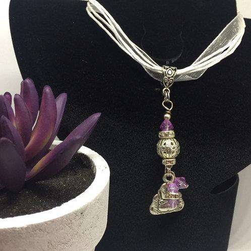 Buddha Ribbon Necklace