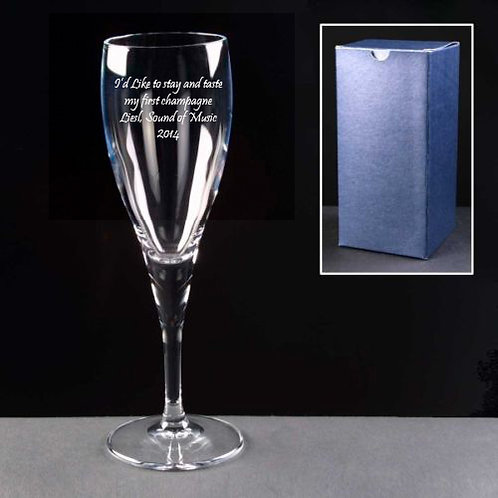 Sound of Music Liesl Engraved Champagne Glass
