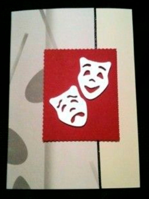 Red Theatre Masks Card