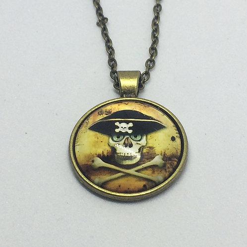 Pirates Round Bronze Pendant