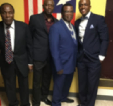 The last four ULOC Presidents (names from left to right Mr. Issac Constance, Mr. Daniel Moore, Mr. Agustine Todey, Mr. Leroy Beldeh)
