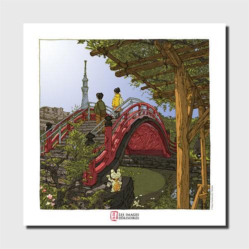 Art print - Kameido Tenjin Bridge