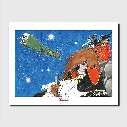 Affiche d'art - Albator & l'Arcadia