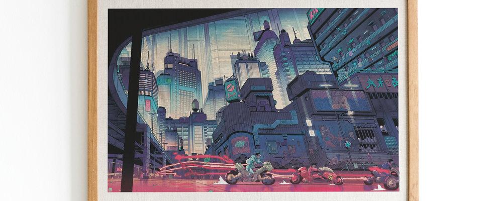 Affiche d'art - Akira par Mathieu Bablet [PRECOMMANDE]