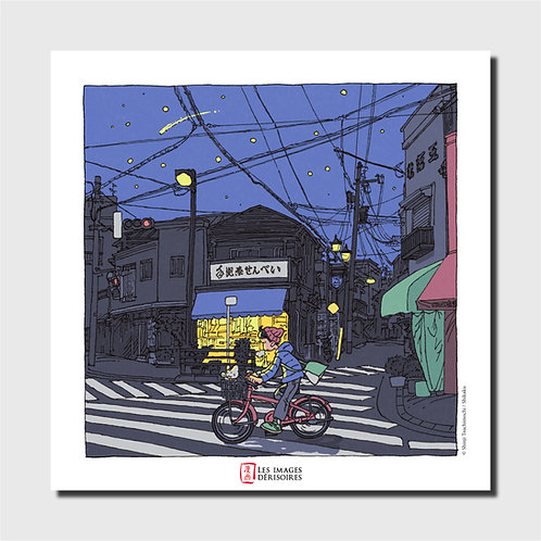Affiche d'art - Tegona Senbei Bike